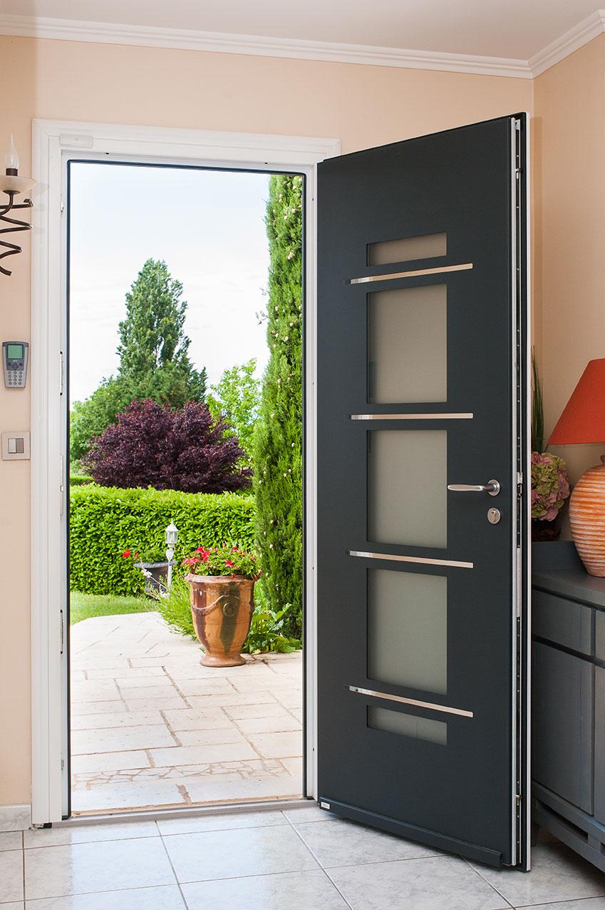 Porte d'entrée vitrée Zilten