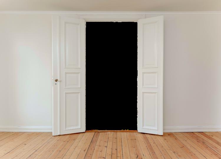portes battantes ouvertes